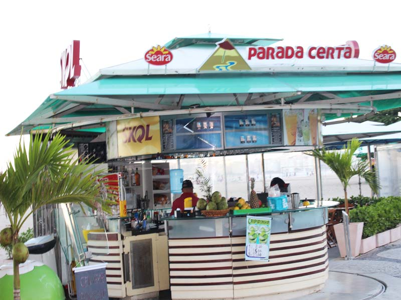 Cafes on Copacabana beach RIO Brazil
